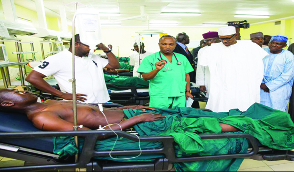 President visits survivors of Abuja explosions